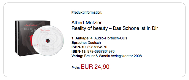Reality of beauty Das Schöne ist in dir CD Coaching Programm